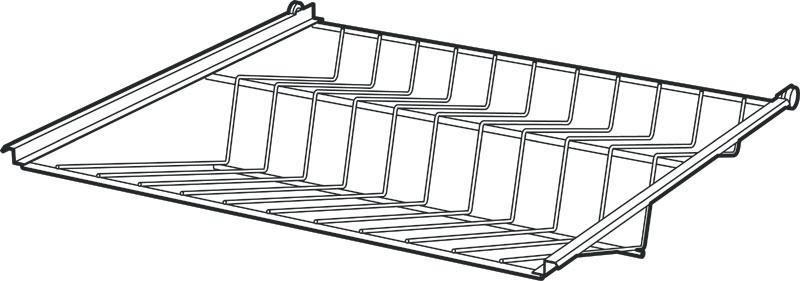 Strålande Skoställ för garderob 60-80cm TR-08
